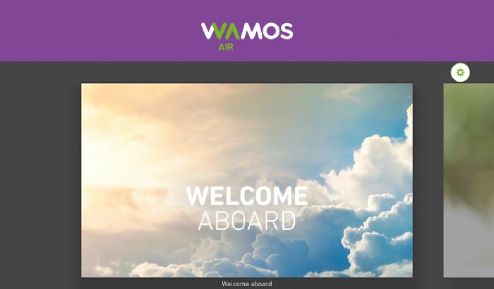 Bienvenida entretenimiento digital Wamos Air